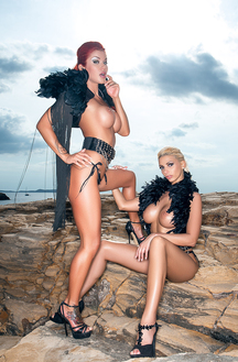 Stefania And Vienna Lesbians On The Rocks